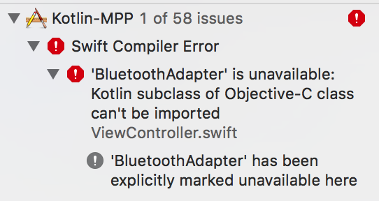 Xcode compiler error due to unavailability of BluetoothAdapter