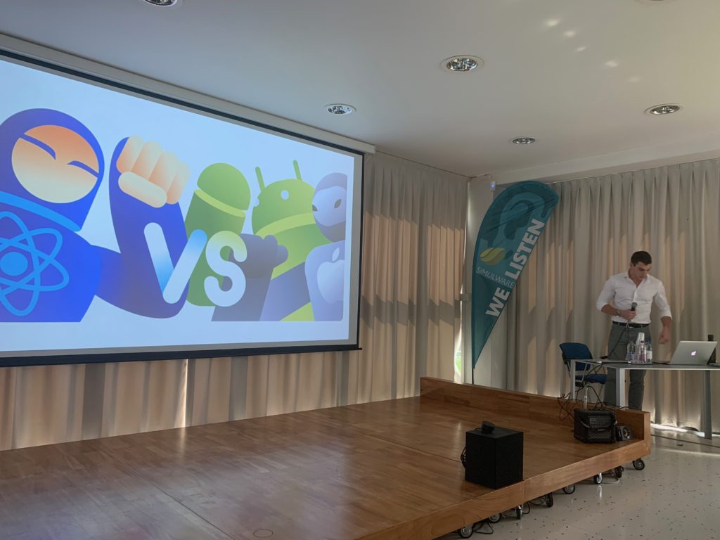"Federico Monti from MOLO17 @FVG Dev conference ""Cross-platform mobile app development"" React Native vs Native development approach"